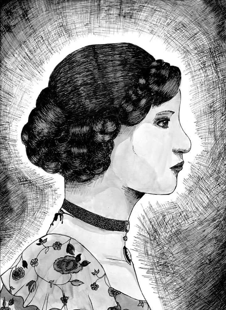 Femme au collier de velours